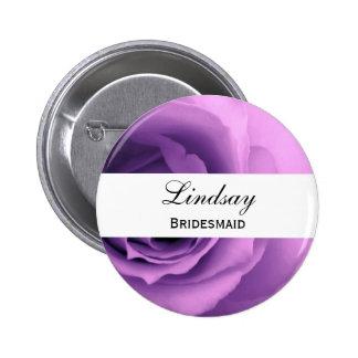Soft Pastel Purple Rose Premium Wedding Collection Pin