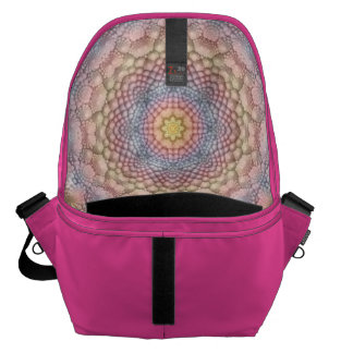 Soft Pastels Colorful  Kaleidoscope  Courier Bags
