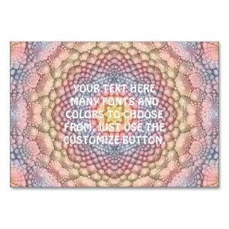Soft Pastels Kaleidoscope  Tablecards Card