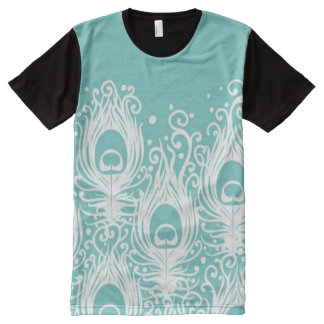 Soft peacock feathers All-Over print T-Shirt