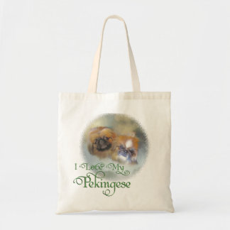 Soft Pekingese Duo Tote Bag