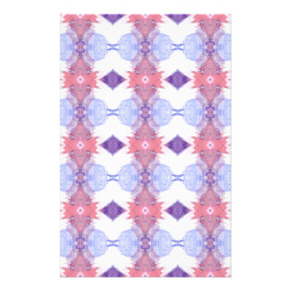 Soft Pink and Blue Diamond Patterned Customized Stationery