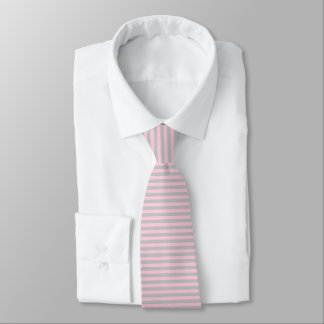 Soft Pink and Silver Stripes Tie