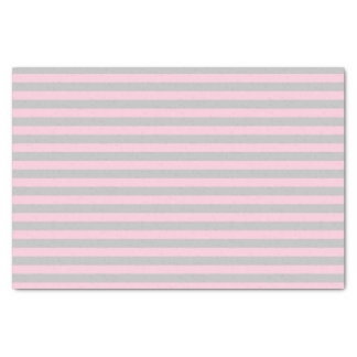 Soft Pink and Silver Stripes Tissue Paper
