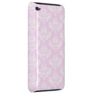 Soft Pink and White Girly Damask Pattern iPod Touch Case-Mate Case