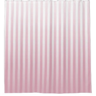 Soft Pink and White Stripes Shower Curtain