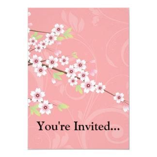 Soft Pink Cherry Blossom 13 Cm X 18 Cm Invitation Card