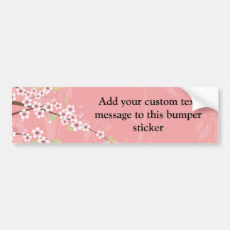 Soft Pink Cherry Blossom Bumper Sticker