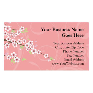 Soft Pink Cherry Blossom Business Card