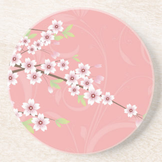 Soft Pink Cherry Blossom Drink Coaster