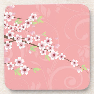 Soft Pink Cherry Blossom Drink Coasters
