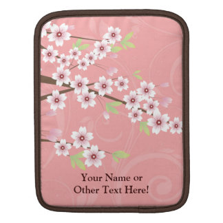 Soft Pink Cherry Blossom iPad Sleeves