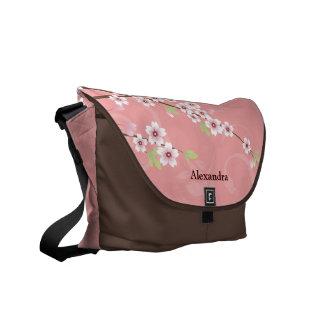 Soft Pink Cherry Blossom Messenger Bags