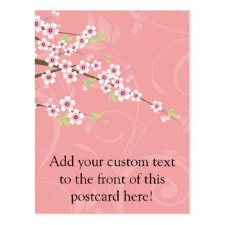 Soft Pink Cherry Blossom Postcard