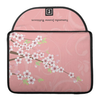 Soft Pink Cherry Blossom Sleeve For MacBook Pro