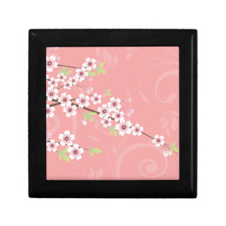 Soft Pink Cherry Blossom Small Square Gift Box