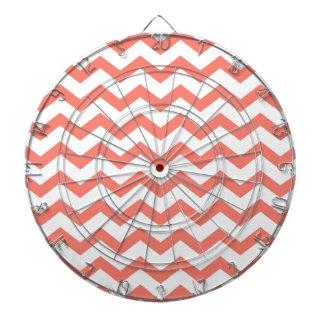 soft pink chevron strips dart board