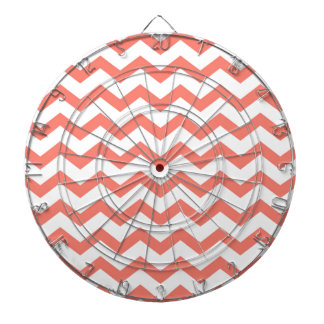 soft pink chevron strips dartboard