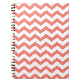 soft pink chevron strips notebook