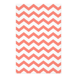 soft pink chevron strips stationery
