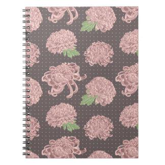 Soft Pink Chrysantemum Seamless Pattern Notebooks
