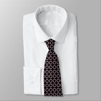 Soft Pink Circles Black Tie
