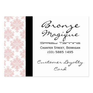 Soft Pink Damask Business Customer Loyalty Cards Pack Of Chubby Business Cards