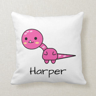 Soft Pink Dinosaur Kawaii Cartoon Cushion