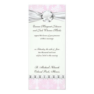 soft pink distressed damask pattern custom announcement