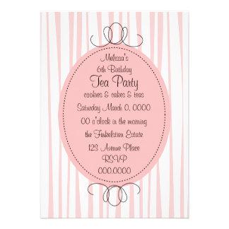 Soft Pink Emblem Custom Invitation