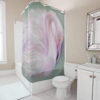 Soft Pink Flamingo Pastel Shower Curtain