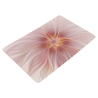 Soft Pink Floral Dream Abstract Modern Flower Floor Mat