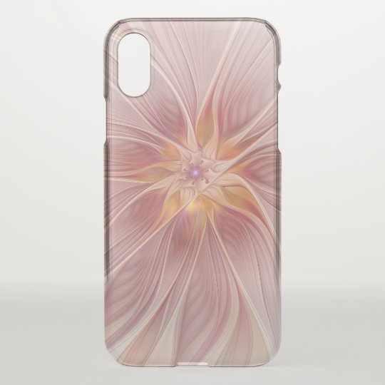 Soft Pink Floral Dream Abstract Modern Flower iPhone X Case