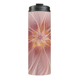 Soft Pink Floral Dream Abstract Modern Flower Thermal Tumbler
