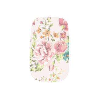Soft Pink Floral Minx Nail Art