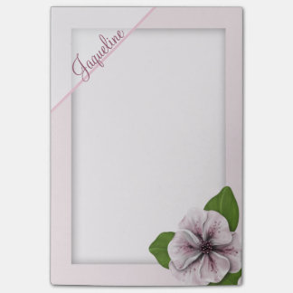 Soft Pink Floral Post-it Notes