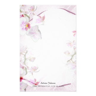 Soft Pink Floral Stationery