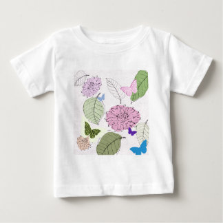 soft pink flowers and butterflies baby T-Shirt