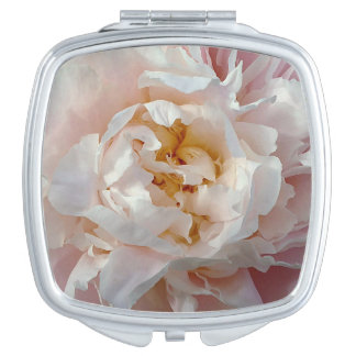 Soft Pink Girly Watercolor Peony Compact Mirror