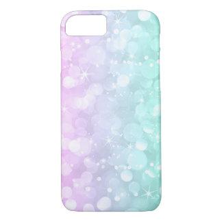 Soft Pink & Green Bokeh Glitter iPhone 8/7 Case
