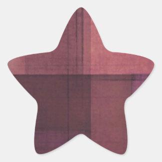 Soft Pink Grunge Star Sticker