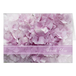 Soft Pink Hydrangea Bridesmaid Thank You Card