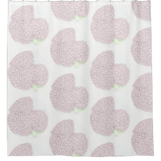 Soft Pink Hydrangea Shower Curtain