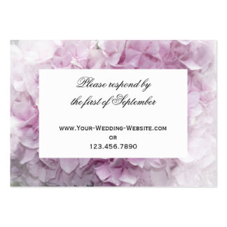 Soft Pink Hydrangea Wedding RSVP Response Card Pack Of Chubby Business Cards