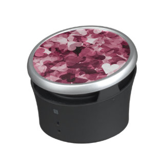 Soft Pink Kawaii Hearts Background Bluetooth Speaker