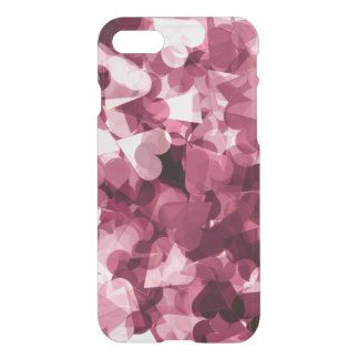 Soft Pink Kawaii Hearts Background iPhone 7 Case