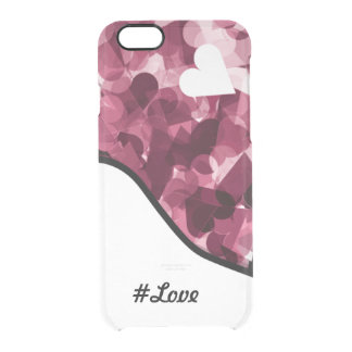 Soft Pink Kawaii Hearts Background #love Clear iPhone 6/6S Case