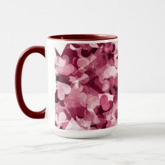 Soft Pink Kawaii Hearts Background Mug