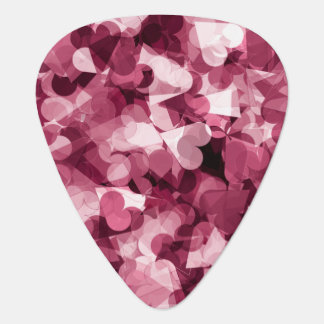 Soft Pink Kawaii Hearts Background Plectrum