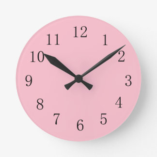 Soft Pink Kitchen Wall Clock